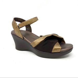 Akaishi Miwa wedge sandals gold